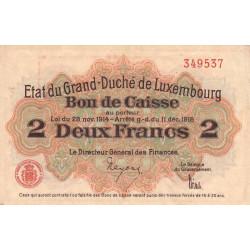 Luxembourg - Pick 28 - 2 francs - 1919 - Etat : TTB+