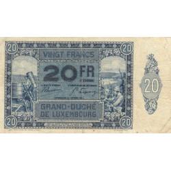 Luxembourg - Pick 37 - 20 francs - 01/10/1929 - Etat : TB