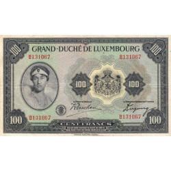 Luxembourg - Pick 39 - 100 francs - 1934 - Etat : TB+