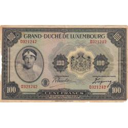Luxembourg - Pick 39 - 100 francs - 1934 - Etat : AB