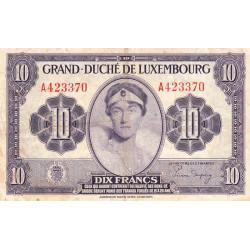 Luxembourg - Pick 44a - 10 francs - 1944 - Etat : TB+