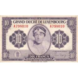 Luxembourg - Pick 44a - 10 francs - 1944 - Etat : TB