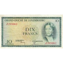 Luxembourg - Pick 48a_3 - 10 francs - 1954 - Etat : TB+