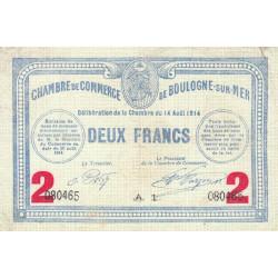 Boulogne-sur-Mer - Pirot 31-16 - 2 francs - 1914 - Etat : TTB
