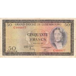 Luxembourg - Pick 51 - 50 francs - 06/02/1961 - Etat : TB-