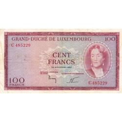 Luxembourg - Pick 52 - 100 francs - 18/09/1963 - Etat : TB