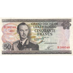 Luxembourg - Pick 55a - 50 francs - 25/08/1972 - Etat : TTB-