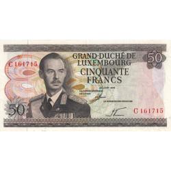 Luxembourg - Pick 55a - 50 francs - 1972 - Etat : TTB-