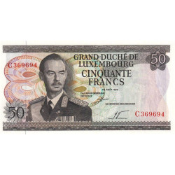 Luxembourg - Pick 55a - 50 francs - 25/08/1972 - Etat : SPL