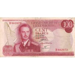 Luxembourg - Pick 56a - 100 francs - 15/07/1970 - Etat : TB