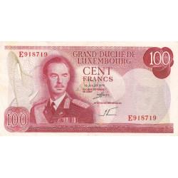 Luxembourg - Pick 56a - 100 francs - 15/07/1970 - Etat : TTB
