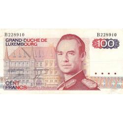 Luxembourg - Pick 57a_1 - 100 francs - 1980 - Etat : TB+
