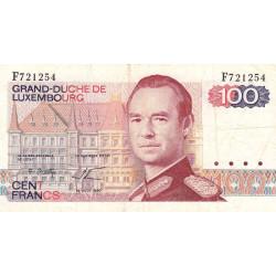 Luxembourg - Pick 57a_2 - 100 francs - 14/08/1980 - Etat : TB+