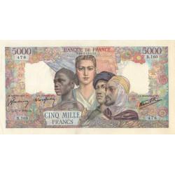 F 47-07 - 27/04/1944 - 5000 francs - Empire Français - Etat : SUP-