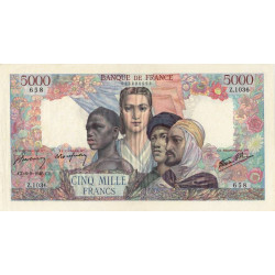 F 47-42 - 06/09/1945 - 5000 francs - Empire Français - Etat : SUP-