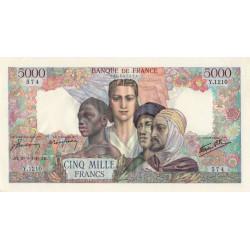 F 47-44 - 20/09/1945 - 5000 francs - Empire Français - Etat : SUP-