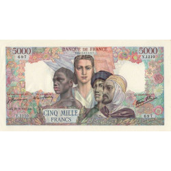 F 47-44 - 20/09/1945 - 5000 francs - Empire Français - Etat : SUP+