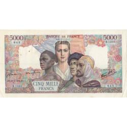 F 47-45 - 27/09/1945 - 5000 francs - Empire Français - Etat : TTB