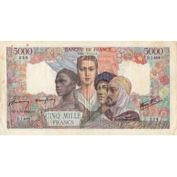 F 47-46 - 04/10/1945 - 5000 francs - Empire Français - Etat : TTB-