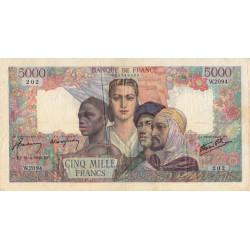 F 47-52 - 08/04/1946 - 5000 francs - Empire Français - Remplacement - Etat : TB+