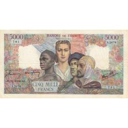 F 47-56 - 12/12/1946 - 5000 francs - Empire Français - Etat : TTB
