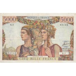 F 48-01 - 10/03/1949 - 5000 francs - Terre et Mer - Série G.1 - Etat : TTB-