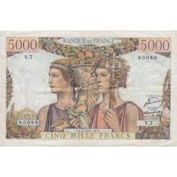 F 48-01 - 10/03/1949 - 5000 francs - Terre et Mer - Série V.7 - Etat : TTB-