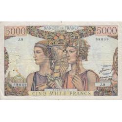 F 48-01 - 10/03/1949 - 5000 francs - Terre et Mer - Etat : TB+