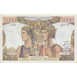 F 48-02 - 03/11/1949 - 5000 francs - Terre et Mer - Série Y.29 - Etat : TTB