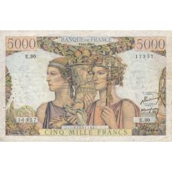F 48-02 - 03/11/1949 - 5000 francs - Terre et Mer - Série E.30 - Etat : TTB-