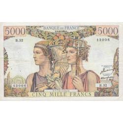 F 48-02 - 03/11/1949 - 5000 francs - Terre et Mer - Etat : TTB-