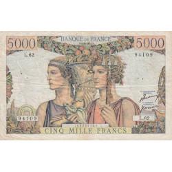 F 48-04 - 05/04/1951 - 5000 francs - Terre et Mer - Série L.62 - Etat : TB+