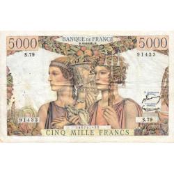 F 48-05 - 16/08/1951 - 5000 francs - Terre et Mer - Série S.79 - Etat : TTB-