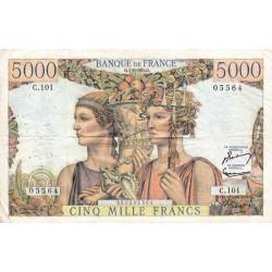 F 48-06 - 07/02/1952 - 5000 francs - Terre et Mer - Série C.101 - Etat : TTB