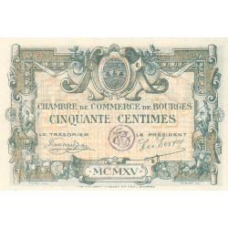 Bourges - Pirot 32-1 - Série A - 50 centimes - 1915 - Etat : SUP+