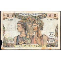 F 48-08 - 02/01/1953 - 5000 francs - Terre et Mer - Série E.116 - Etat : TB-