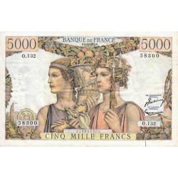 F 48-08 - 02/01/1953 - 5000 francs - Terre et Mer - Série O.132 - Etat : TTB