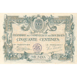 Bourges - Pirot 32-1-A - 50 centimes - 1915 - Etat : SUP