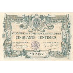 Bourges - Pirot 32-1 - Série A - 50 centimes - 1915 - Etat : SUP