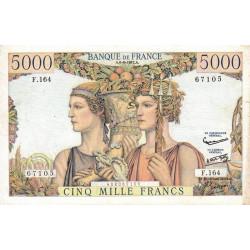 F 48-15 - 06/06/1957 - 5000 francs - Terre et Mer - Série F.164 - Etat : TTB