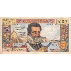 F 49-02- 06/06/1957 - 5000 francs - Henri IV - Etat : TB