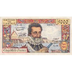 F 49-02- 06/06/1957 - 5000 francs - Henri IV - Etat : TTB-
