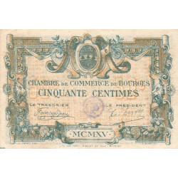 Bourges - Pirot 32-1 - Série B - 50 centimes - 1915 - Etat : TTB