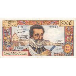 F 49-3- 03/10/1957 - 5000 francs - Henri IV - Etat : TTB