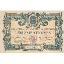 Bourges - Pirot 32-1-C - 50 centimes - 1915 - Etat : SUP