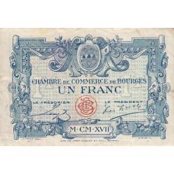 Bourges - Pirot 32-9 - Série D - 1 franc - 1917 - Etat : TB+