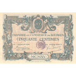 Bourges - Pirot 32-1-C - 50 centimes - Etat : SUP+