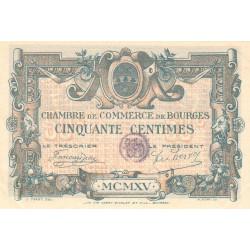 Bourges - Pirot 32-1 - Série C - 50 centimes - 1915 - Etat : SUP+