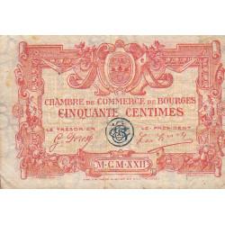 Bourges - Pirot 32-12 - Série H - 50 centimes - 1922 - Etat : B+