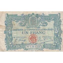 Bourges - Pirot 32-13 - Série O- 1 franc - 1922 - Etat : B+